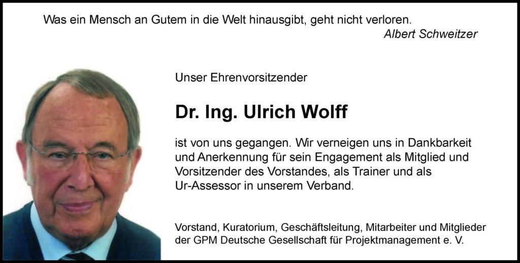 Ulrich Wolff als Mitautor des Projektatlas