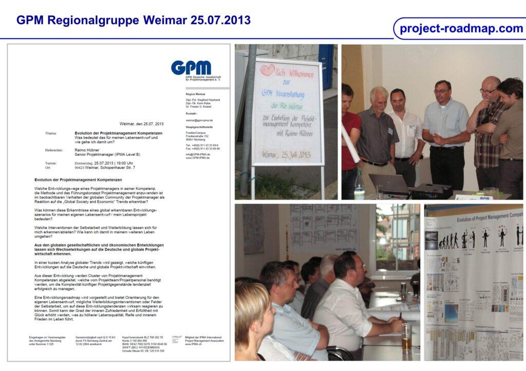 GPM RG Weimar Vortrag Evolution Projekt Management Kompetenzen