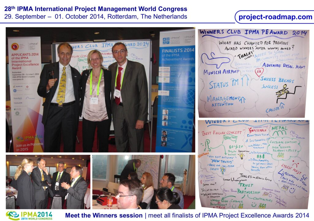 IPMA Project Excellence Award World Congress Rotterdam Winners Club